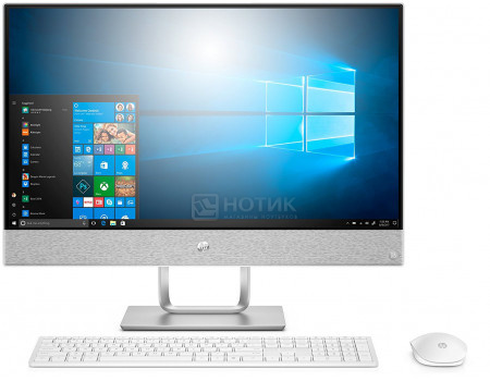 Фотография товара моноблок HP Pavilion 24-r121ur (23.8 IPS (LED)/ Core i7 8700T 2400MHz/ 16384Mb/ HDD+SSD 1000Gb/ AMD Radeon 530 2048Mb) MS Windows 10 Home (64-bit) [4GL11EA] (60986)