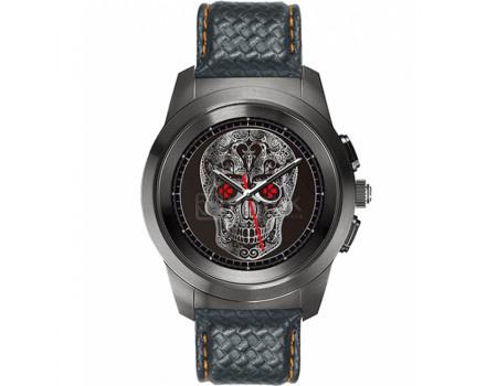 Фотография товара смарт-часы MyKronoz ZeTime Premium Regular, 200мАч, Черный BRUSHED BLACK/BLACK FLAT LEATHER (60989)