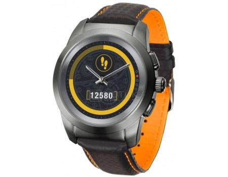Фотография товара смарт-часы MyKronoz ZeTime Premium Regular, 200мАч, Титан (Оранженвый, Черный) KRZT1RP-BTI-BKCAR (60990)