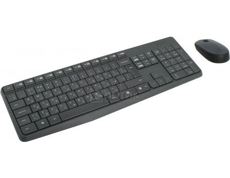 Фотография товара комплект беспроводной клавиатура + мышь Logitech Wireless Combo MK235 920-007948, Черный (61367)