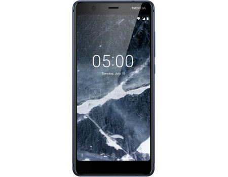 "Фотография товара смартфон Nokia 5.1 DS 16Gb Blue (Android 8.0 (Oreo)/MT6750N 2000MHz/5.5"" 2160x1080/2048Mb/16Gb/4G LTE ) [11CO2L01A09] (61853)"