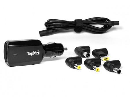 Картинка для Универсальное автомобильное зарядное устройство TopON 90W для ноутбуков, с USB-портом на 2.1A U90WCC