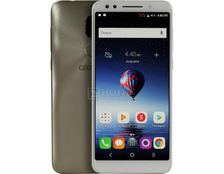 """Фотография товара смартфон Alcatel 3x 5058i Gold (Android 7.1 (Nougat)/MT6739 1300MHz/5.7"""" 1440x720/3072Mb/32Gb/4G LTE ) [5058I-2CALRU1] (62096)"""
