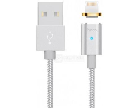 Фотография товара кабель HOCO Magnetic, USB - Lightning port U16 Series Silver, 1,2м, Серебристый (62188)