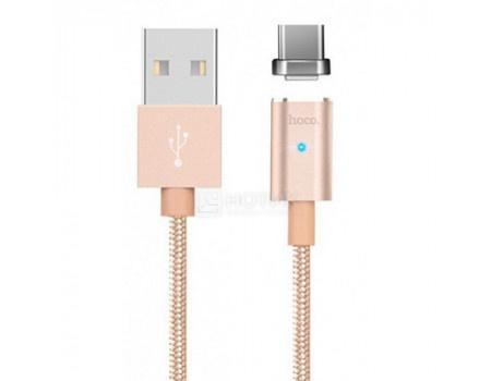 Фотография товара кабель HOCO Magnetic, USB - USB Type-C U16 Series Gold, 1,2м, Золотистый (62191)