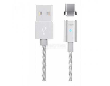 Фотография товара кабель HOCO Magnetic, USB - USB Type-C U16 Series Silver, 1,2м, Серебристый (62192)