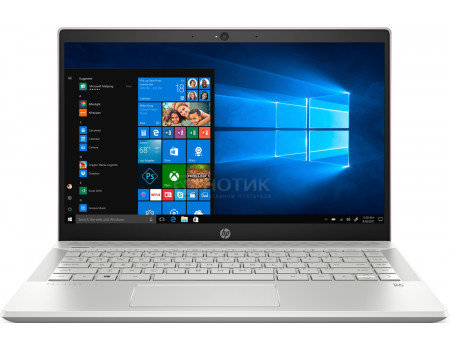 Фотография товара ноутбук HP Pavilion 14-ce0010ur (14.0 IPS (LED)/ Core i5 8250U 1600MHz/ 4096Mb/ Hybrid Drive 1000Gb/ NVIDIA GeForce® MX130 2048Mb) MS Windows 10 Home (64-bit) [4HB67EA] (62290)