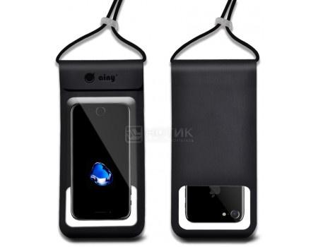 """Фотография товара чехол водонепроницаемый Ainy для смартфонов до 6"""", Черный QE-001A (62641)"""