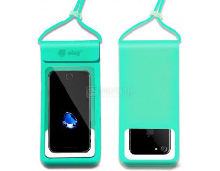 """Фотография товара чехол водонепроницаемый Ainy для смартфонов до 6"""", Бирюзовый QE-001H (62643)"""