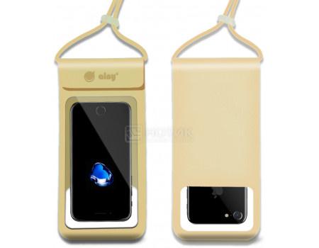 """Фотография товара чехол водонепроницаемый Ainy для смартфонов до 6"""", Золотистый QE-001L (62644)"""