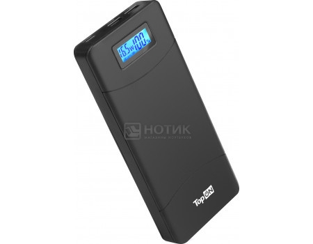 Фотография товара универсальный внешний аккумулятор TopON TOP-T80 для смартфонов, планшетов, цифровой техники, ноутбуков на 18000mAh (66,6 Wh) Черный (62741)