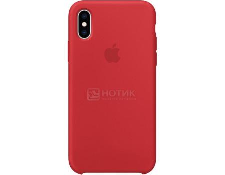 Фотография товара чехол-накладка Apple Silicone Case Red для iPhone XS Max MRWH2ZM/A Силикон, Красный (62804)