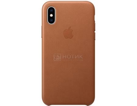 Фотография товара чехол-накладка Apple Leather Case Saddle Brown для iPhone XS Max MRWV2ZM/A, Кожа, Коричневый (62810)