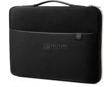 "Сумка-чехол 15,6"" HP Carry Sleeve, 3XD35AA, Синтетика, Черный/Золотистый фото"