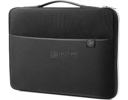 "Сумка-чехол 17,3"" HP Carry Sleeve, 3XD38AA, Синтетика, Черный/Серебристый фото"
