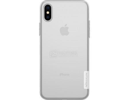 Фотография товара чехол-накладка Nillkin Nature TPU case для iPhone X/XS, T-N-AIX-018, Силикон, Белый 6902048146549 (62852)