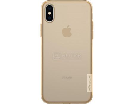 Фотография товара чехол-накладка Nillkin Nature TPU case для iPhone X/XS, T-N-AIX-018, Силикон, Коричневый 6902048146570 (62853)