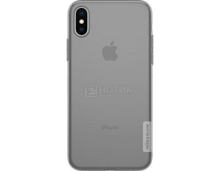 Фотография товара чехол-накладка Nillkin Nature TPU case для iPhone X/XS, T-N-AIX-018, Силикон, Серый 6902048146532 (62854)