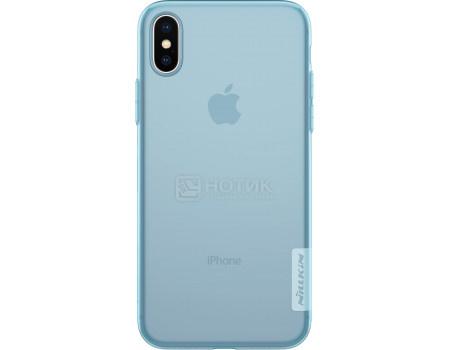 Фотография товара чехол-накладка Nillkin Nature TPU case для iPhone X/XS, T-N-AIX-018, Силикон, Синий 6902048146563 (62855)