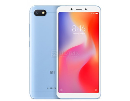 Смартфон Xiaomi Redmi 6A 32Gb Blue (Android 8.1 (Oreo)/MT6762M 2000MHz/5.45