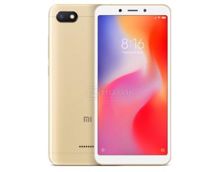 "Фотография товара смартфон Xiaomi Redmi 6A 32Gb Gold (Android 8.1 (Oreo)/MT6762M 2000MHz/5.45"" 1440x720/2048Mb/32Gb/4G LTE ) [X18989] (63048)"
