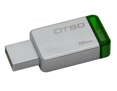 Флешка Kingston 16Gb DataTraveler 50 DT50/16GB, USB3.1, Серебристый фото