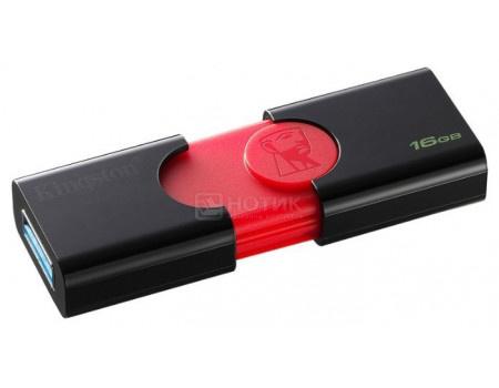 Фотография товара флешка Kingston 16Gb DataTraveler 106 DT106/16GB, USB3.0, Черный/Красный (63078)