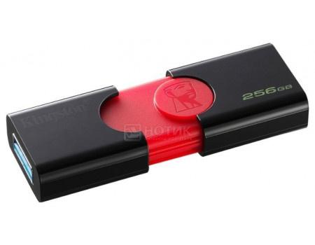Фотография товара флешка Kingston 256Gb DataTraveler 106 DT106/256GB, USB3.0, Черный/Красный (63082)