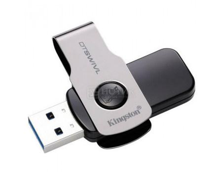 Фотография товара флешка Kingston 32Gb DataTraveler SWIVL DTSWIVL/32GB, USB3.0, Серебристый/Черный (63084)