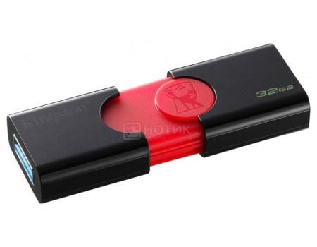 Фотография товара флешка Kingston 32Gb DataTraveler 106 DT106/32GB, USB3.0, Черный/Красный (63085)