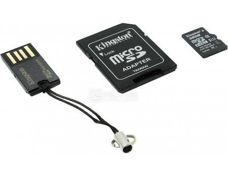 Карта памяти Kingston microSDHC 32Gb +  (Class 10 microSD + SD adapter + USB reader) MBLY10G2/32GB