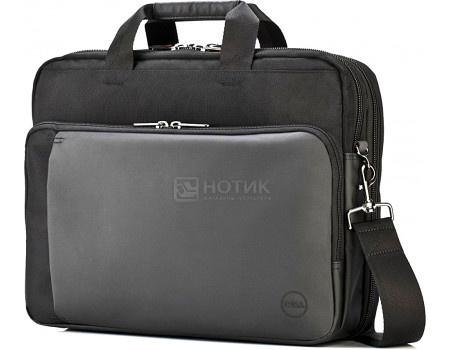 """Фотография товара сумка 13,3"""" Dell Premier Briefcase, Синтетика, Черный/Серый 460-BBNK (63110)"""