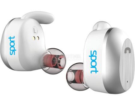 Гарнитура беспроводная Elari NanoPods Sport, Bluetooth, 2 x 50 мАч, IP67, Белый 4627078304418 фото