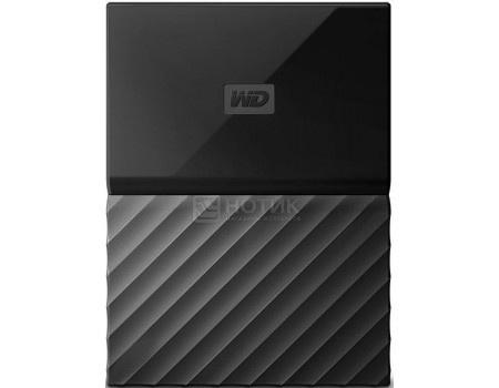 """Фотография товара внешний жесткий диск Western Digital 2Tb WDBLHR0020BBK-EEUE My Passport 2.5"""" USB 3.0, Черный (63178)"""