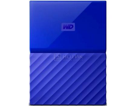 """Фотография товара внешний жесткий диск Western Digital 2Tb WDBLHR0020BBL-EEUE My Passport 2.5"""" USB 3.0, Синий (63179)"""