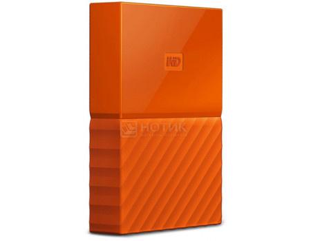 """Фотография товара внешний жесткий диск Western Digital 2Tb WDBLHR0020BOR-EEUE My Passport 2.5"""" USB 3.0, Оранжевый (63180)"""