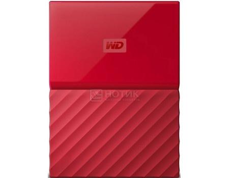 """Фотография товара внешний жесткий диск Western Digital 2Tb WDBLHR0020BRD-EEUE My Passport 2.5"""" USB 3.0, Красный (63181)"""