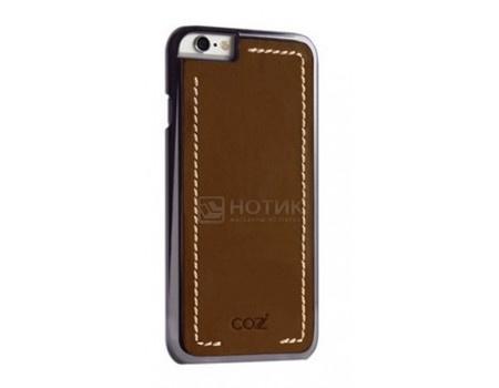 Фотография товара чехол-накладка Cozistyle Leather Chrome Case для  iPhone 6/iPhone 6s, Кожа/Поликарбонат, Коричневый/Черный CLCC61220 (63253)