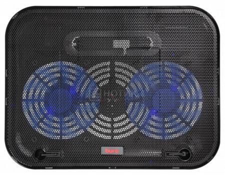 "Фотография товара подставка для ноутбука Buro BU-LCP140-B214H 14"", Вентилятор 2x140мм, 1xUSB 2.0,  металлическая сетка, BU-LCP140-B214H (63313)"