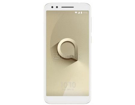 """Фотография товара смартфон Alcatel 3L 5034D Gold (Android 8.1 (Oreo)/MT6739 1300MHz/5.50"""" 1440x720/2048Mb/16Gb/4G LTE ) [5034D-2CALRU7] (63524)"""