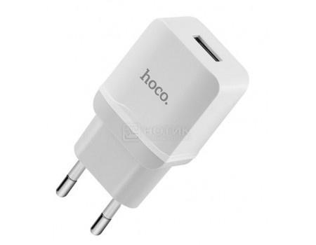 Фотография товара сетевое зарядное устройство HOCO, 1xUSB 2.4A, Белый  C22A  2.4A White (63568)