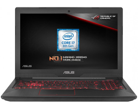 Фотография товара ноутбук ASUS TUF Gaming FX504GE-E4264T (15.60 IPS (LED)/ Core i5 8300H 2300MHz/ 8192Mb/ HDD+SSD 1000Gb/ NVIDIA GeForce® GTX 1050Ti 4096Mb) MS Windows 10 Home (64-bit) [90NR00I2-M04210] (63774)