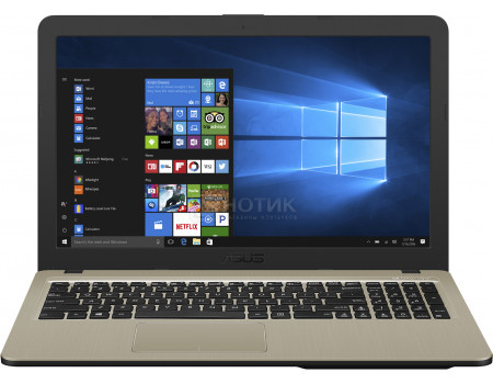 Ноутбук ASUS X540MB-GQ079T (15.60 TN (LED)/ Pentium Quad Core N5000 1100MHz/ 4096Mb/ HDD 500Gb/ Intel GeForce® MX110 2048Mb) MS Windows 10 Home (64-bit) [90NB0IQ1-M01440]