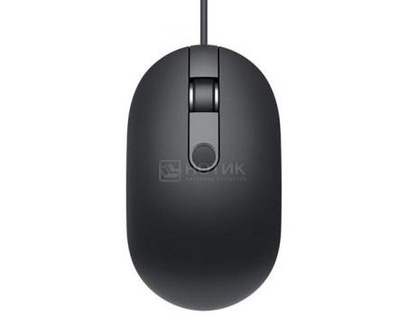 Мышь проводная Dell MS819, 1000dpi, сканер отпечатка пальцев, USB, Черный 570-AARY
