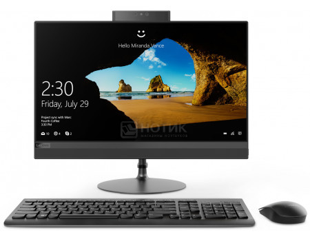 Моноблок Lenovo IdeaCentre 520-24 (23.80 IPS (LED)/ Ryzen 5 2400GE 3200MHz/ 8192Mb/ HDD 1000Gb/ AMD Radeon RX Vega 11 Graphics 64Mb) Free DOS [F0DN004DRK]  - купить со скидкой