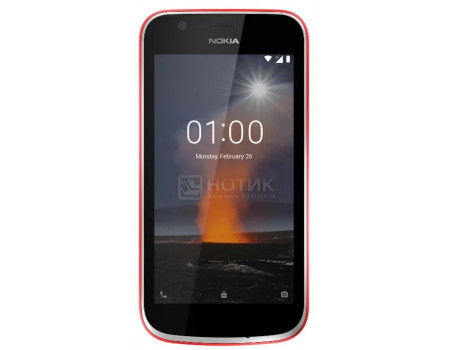 Смартфон Nokia 1 DS 8Gb Warm Red (Android 8.0 (Oreo)/MT6737M 1100MHz/4.50