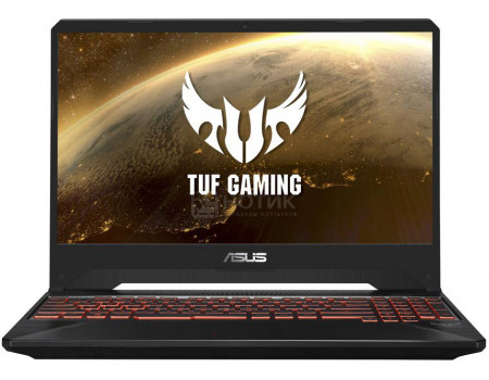 Ноутбук ASUS TUF Gaming FX505GE-BQ324T (15.60 IPS (LED)/ Core i7 8750H 2200MHz/ 8192Mb/ HDD+SSD 1000Gb/ NVIDIA GeForce® GTX 1050Ti 4096Mb) MS Windows 10 Home (64-bit) [90NR00S3-M07100]