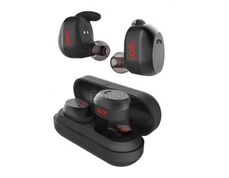 Гарнитура беспроводная Elari NanoPods Sport, Bluetooth, 2 x 50 мАч, IP67, Черный 4627078304371 фото