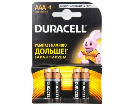Батарейки Duracell LR03-4BL BASIC AAA 4 штуки фото