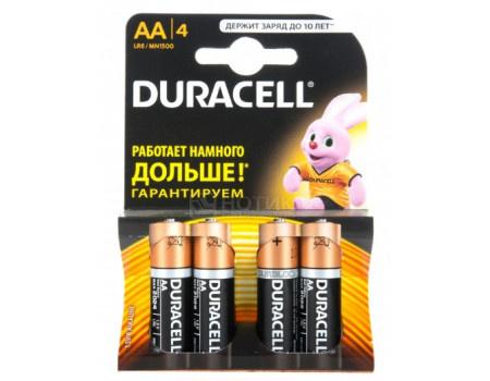 Батарейки Duracell LR6-4BL BASIC AA 4 штуки фото